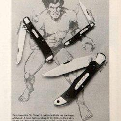 1979 Ad Schrade Lockblades Pocket Knives Old Timer Beast Ellenville New York - Original Print Ad