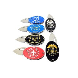 "New 24 Piece Set Of 4"" Mini Shield Folding Knife"