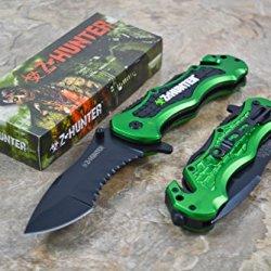 Z Hunter Apocalypse Green Zombie Knife Zomber Hunter Survival Tatical Camping Hunting Pocket Knife