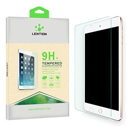 Lention Clear Tempered Glass Screen Protector【For Ipad Mini 1 Mini 2 Mini 3】No Bubble Hd Ultrathin Superhard 9H Shatterproof Anti-Scratch Anti-Glare Hydrophobic Oleophobic