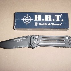 "Smith & Wesson, H.R.T., Folding Knife, W/Partially Serrated 3 1/2"" Blade"