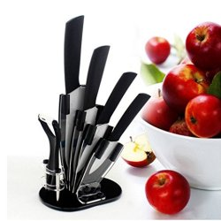 New Ceramic Knife, 6Pcs Gift Set 3 Inch+4 Inch+5 Inch+6 Inch+Peeler +Knife Holder Ceramic Knife Sets Kitchen Knife