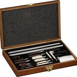 Game Raider 35 Piece Universal Gun Cleaning Kit W/ Brown Wood Carrying/Storage Case Rg0035W