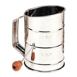 Mrs. Anderson'S Baking 3-Cup Stainless Steel Crank Flour Sifter New