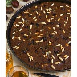 Photographic Print Of Castagnaccio, Pie Of Chestnut Flour With Raisins, Rosemary And Pine Nuts