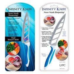 Infinity Knife With Vented Stainless Steel Blades