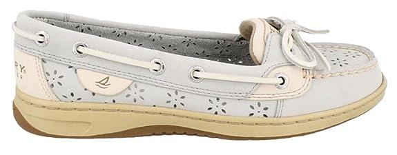 Sperry Top-Sider Women's Angelfish Light Grey (Perfs) Boat Shoe 8 M (B)