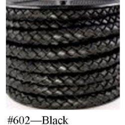 """Black Braided Bolo Cord, 4Mm (5/32"""") X 10M (10.9 Yd)"""