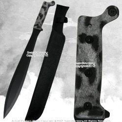 Full Tang Fixed Blade Jungle Machete Fantasy Zombie Hunting Sword Spear Point Wt