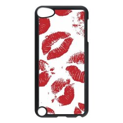 Diy Personalized New Custom Cute Cartoon Sexy Red Kiss Lips Lipstick Pattern Design Cell Phone Case Cover For Apple Ipod Touch 5 Case Hard Plastic Mobile Phone Case Protective Shell