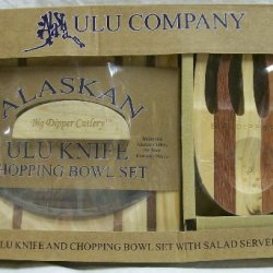 Ulu Knife And Chopping Bowl With Salad Claws