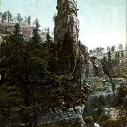 Knife-Blade Rock Black Hills South Dakota Original Vintage Postcard