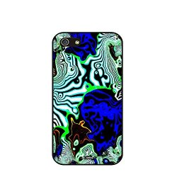 Dh-Hoping (Tm) Cell Phone Case For Personalizatied Custom Picture Iphone 5C High Impackt Combo Soft Silicon Rubber Hybrid Hard Pc & Metal Aluminum Protective Case With Customizatied Paint Retro Style Splash-Ink Luxurious Pattern (Dye-08)