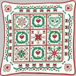Christmas Quilt Pillow - Cross Stitch Kit