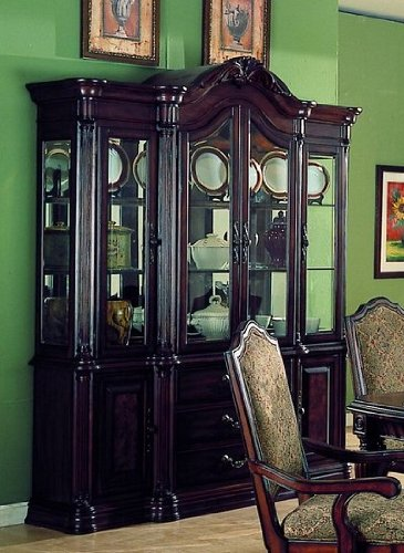 Image of Carlsbad Collection Hardwood China Cabinet /Buffet Hutch (VF_HE1360-50)