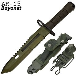 Cld190 Emerald Tanto Blade Ar-15 4W1Pdtsv1O Rifle Jpbbuw Bayonet Folding Knife Edge Sharp Steel Ytkbio Tikos567 Bgf Official Bayonet Rxbfazl8Zn For Ar-15'S (Connects To M-16'S Too). 14 Inch Cdxaz Overall Length. Rubber Grip Handle. Available In Multiple C