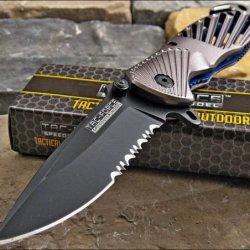Tac-Force Speedster Gray High Carbon Rescue Glass Breaker Knife
