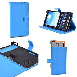 Vintage Blue Lux Protective Case Fits Doogee Dagger Dg550 |Universal Fit With Stand Function + Nd Cable Wrap