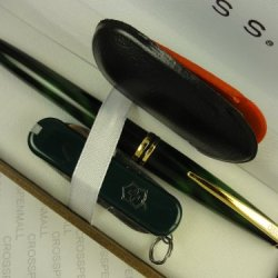 Cross Solo Green With 23K Pen And Victorinox Emerald Green Knife Set