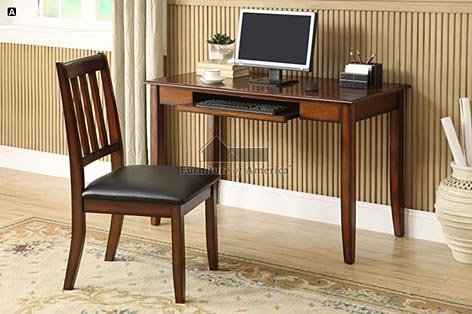 Picture of Comfortable Laurl Bay Tobacco Oak Finish Console Table/Computer Desk with Chair (B005982KM4) (Computer Desks)