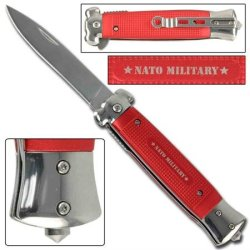 Striker Spring Assisted Tactical Knife - Nato Red