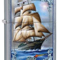 Zippo Mazzi Tall Ship Pocket Lighter