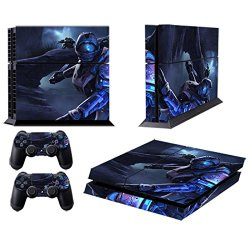 258Stickers® Playstation 4 Console Skin & Remote Controllers Skin - Galaxy Military Science Soldier Sniper And Knife