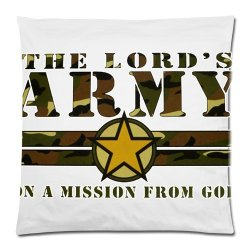 Jdsitem Creative Quotes Army Camouflage Camo Design 18 By 18 Inch Zippered Cotton And Polyester Square Pillowcases Protector Case