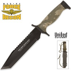 United Cutlery Uc2831 Nightstalker Combat Sawback Tanto Knife With Sheath, Camo