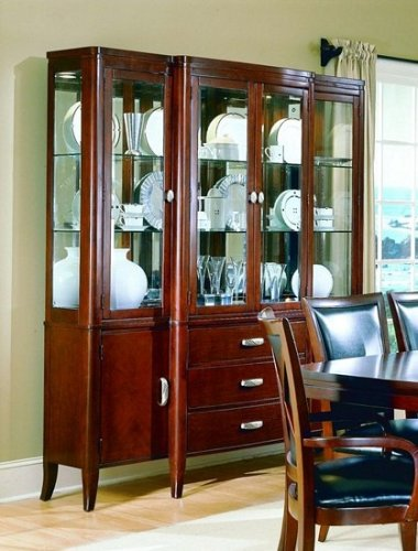 Image of 5th Avenue Collection Hardwood China Cabinet /Buffet Hutch (VF_HE589-50)