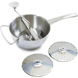 Norpro Food Mill Ricer Strainer 2Qt With 2 Discs 18/10 Stainless Steel