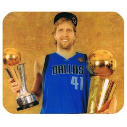 Special Designed Rectangle Mouse Mats With Dallas Mavericks Dirk Nowitzki Theme-By Allthingsbasketball