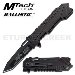 "Mt-A815Af F-15 Falcon Fighter Jet Air 2Hvdlntgs Force Gcxrczgagw Rescue Spring Assisted Knife Ghkdiwiy 2334Rtyui Gbh Mtech Ballistic Spring Assisted Opening Knife Rescue Spring Assisted Folder Knife 5"" Closed Length Black Half Serrated Stainless Steel Bla"