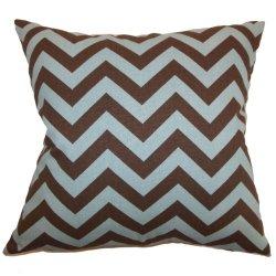 The Pillow Collection Xayabury Zigzag Pillow, Village Natural
