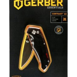 Gerber Contrast, Drop Point Assisted Opening Serrated Edge Box