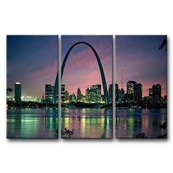 3 Pieces Wall Art Painting Saint Louis Arch Building Pictures Prints On Canvas City The Picture Decor Oil For Home Modern Decoration Print For Kids Room
