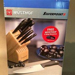 Wusthof Silverpoint Ii Knife 14-Piece Block Set With Bonus 2-Stage Sharpener
