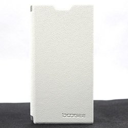 Doogee Dg550 Leather Case High Quality Flip Pu Leather Stand Cover Pouch For Doogee Dagger Dg550 Mtk6592 (White)