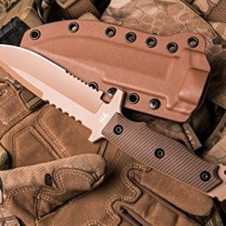 Hardcore Hardware Australia Mfk-04G2 Generation 2 Tactical Fighting Survival Knife Desert G-10 Kydex Sheath