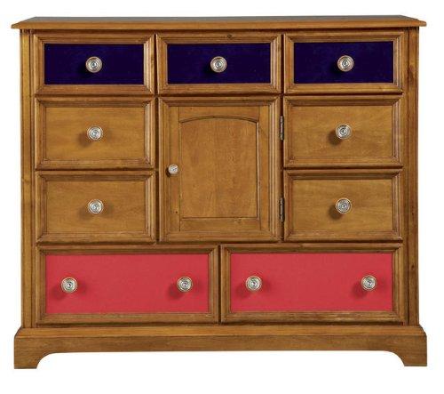 Image of Pulaski Build-A-Bear Bearrific Kids Bureau Double Dresser in Cocoa (B002Q78VBU)