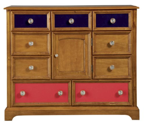 Image of Pulaski Build-A-Bear Bearrific Kids Bureau Double Dresser in Cocoa (B002Q78VBU)