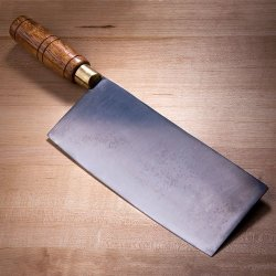 """8"""" Chinese Cleaver With Wood Handle"""