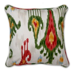 Pillow Throw Pillows Cushion Decorative Pillows Accent 18 Inch Ikat Red Pillow With Green
