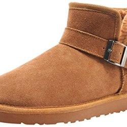 Rock Me Men'S Suede Warm Ankle Snow Boot(Chestnut,10)
