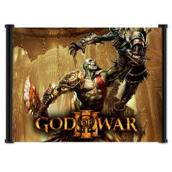 """God Of War 3 Game Fabric Wall Scroll Poster (21""""X16"""") Inches"""
