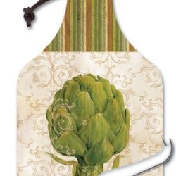 Counterart Gourmet Vegetables Big Cheese 14-1/4 Inch Glass Board With Cheese Knife