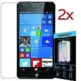 Lumia 650 2x pellicola vetro temperato display per smartphone Microsoft Nokia Lumia 650 + kit pulizia schermo