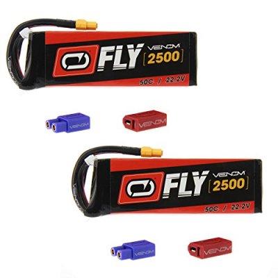 Venom-Fly-50C-6S-2500mAh-222V-LiPo-Battery-with-UNI-20-Plug-XT60DeansEC3-x2-Packs-Compare-to-E-flite-EFLB40006S30