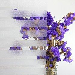 Fancy-Fix Small Lines Adhesive Free Uv Block Window Film Privacy Decorative Glass Films