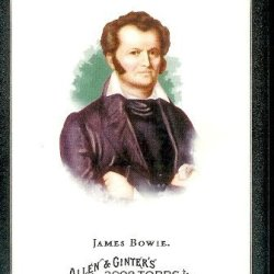2008 Topps Allen And Ginter # 323 James Bowie Sp - Short Print (American Pioneer (Bowie Knife)) Mlb Baseball Card